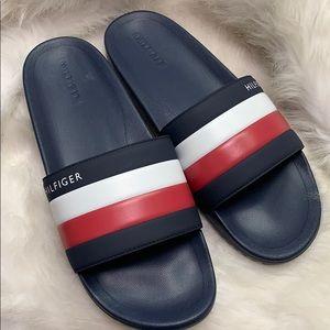 Men's Tommy Hilfiger Striped logo Slides sandal
